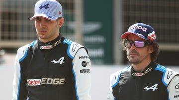 Esteban Ocon y Fernando Alonso