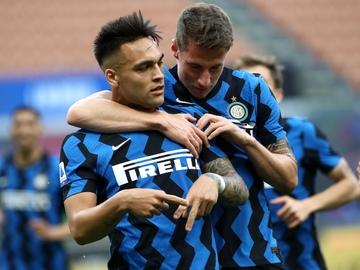 Lautaro Martínez, con el Inter