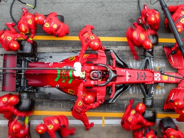 El Ferrari de Carlos Sainz