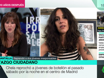 """Hablamos con Chela Santalla, la joven viral por reprender a dos irresponsables de fiestas tras el estado de alarma: """"Se ha confundido libertad con libertinaje"""""""