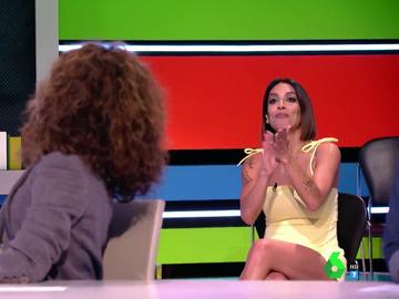 Lorena Castell lo da todo en directo con los tanguillos de Cádiz para convencer a Rosario Flores de que colabore con ella