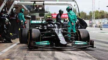 Valtteri Bottas saliendo de 'boxes' en el Gran Premio de España